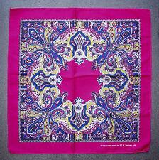 Cabeza de algodón de Paisley Style Pañuelo Bufanda Pañuelo Rosa Violeta Azul Y Amarillo
