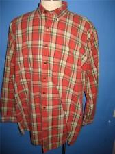 Abercrombie & Fitch Red Plaid Button Down Collar Cotton LS Shirt XXL