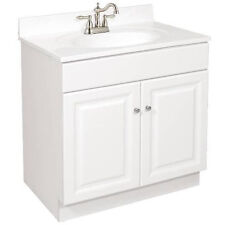 "Design House Traditional Bathroom Vanity Cabinet 2-Door 30"" W x 18"" D White"