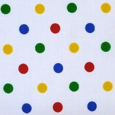 Pudsey Bear Eye Patch Fabric White Cotton SML Spots