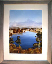 Australian Artist James Fearnley's  W'colour  'Mt Warning & The Tweed River'
