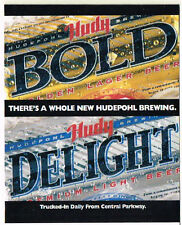 1980s Hudy Bold Delight Beer Table Tent Tavern Trove