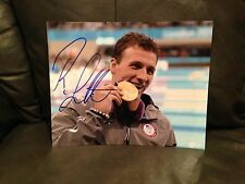RYAN LOCHTE SIGNED AUTO 8x10 PHOTO SWIMMING OLYMPICS USA U.S.A. PROOF* **WOW** 1