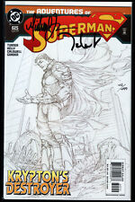 Superman #625 Sketch Cover Signed Michael Turner + talent Caldwell + DF COA Presque comme neuf +