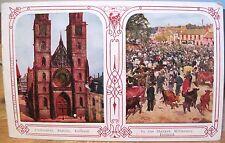 Irish Postcard DUBLIN Cathedral St Patricks KILLARNEY Market Ireland Austen 1909