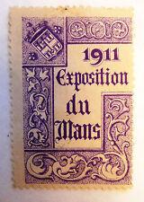 ANCIEN TIMBRE VIGNETTE DELANDRE / EXPOSITION DU MANS 1911