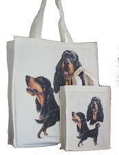 More details for gordon setter dog adult & child shopping or dog treats packed lunch etc tote bag