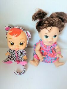 Baby Alive Snackin' Sara Doll Red Hair Green Eyes Bilingual Plus Cry Baby Lea