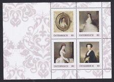 Postfr. Briefmarkenblock mit 4 PM mit Kaiserin Sisi, Nennwert je 0,80 €
