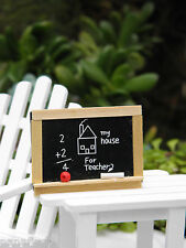 Miniature Dollhouse Fairy Garden Accessories ~ School Teacher Chalkboard ~ New