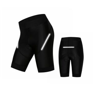 Women Cycling Shorts with 5D Gel Padded Bicycle Sport Workout Pants Reflective