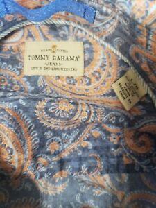 Tommy Bahama Jeans Island  Paisley Print Long Sleeve Shirt, Men Sz LG Button