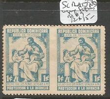 Dominican Republic SC RA17 Pair Imperf Between MOG (3cxj)
