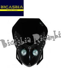8407 - MASCHERINA FARO FANALE ANTERIORE E.T. CON LED NERA OMOLOGATA ENDURO