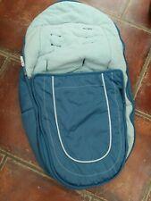 ICANDY peach / peach jogger   main seat  footmuff cosytoes gumdrop blue