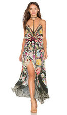 Camilla Franks Silk Sz-3 Flamenco Sweep Cross Over Front Long Dress