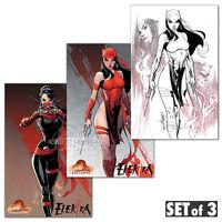 Elektra #1 J Scott Campbell 3 Pack Variant Set