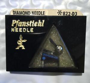 New Sealed PFANSTIEHL  Diamond Elliptical Needle for Stanton 681 Series 822-D3