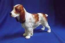 Royal Doulton Dog Figurine Large 7 Inches Long Brown White Cocker Spaniel #HN036