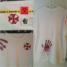 "Zombie Survival ""Hand Printed"" Tee Resident Evil Umbrella Cosplay Tricell"