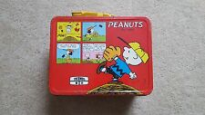1965 Peanuts Charlie Brown Snoopy Metal Lunch Box King-Seeley Comic - No Thermos