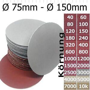 Feinschleifscheiben Klett Schleifblätter Schleifpapier Exzenter 75 100 125 150mm