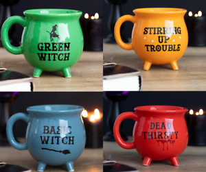 Witches Cauldron Mug Pagan Wiccan Gothic Gift Halloween Christmas New Designs