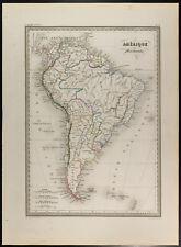 Carte géographique 1846 : Amérique du sud (Méridionale). Malte-Brun. Ancienne