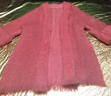 "Vintage ""Royal Patronage"" Womens Pure Mohair W/Wool Binder Cardigan Size Large"