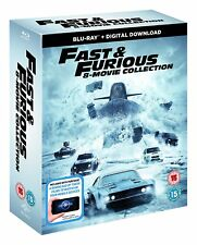 FAST & FURIOUS 8 MOVIE COLLECTION 8 DISC BLU RAY BOXSET 1-8