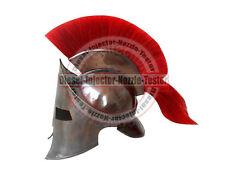 NEW MEDIEVAL ROMAN SPARTAN HELMET KING 300 LEONIDAS ARMOUR HELMET WITH RED PLUME