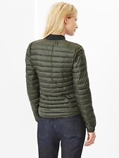 $100 GAP Women's Milti-Quilt Quilted Puffer Jacket Coat XS S M Black Olive Green