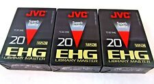 JVC VHS-C EHG Library Master Compact Video Cassette TC-20 3 Pack New Sealed
