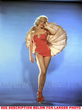 MARILYN MONROE UMBRELLA and SWIMSUIT 1xRARE 8x10 PHOTO