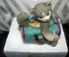 Enesco Calico Kittens I've Bagged the Best Buddy in the World * Grey Cat Gym Bag