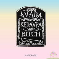 Harry Potter Avada Kedavra Spell Embroidered Iron On Patch Sew On Badge Applique