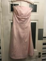 pale pink bustier Occasion Dress with netting By South Size 16 Large prom ball ?