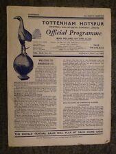 More details for 1949/50 friendly match  tottenham hotspur v hibernian - ist may rare