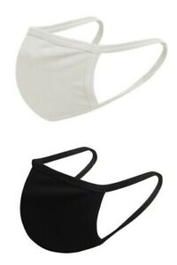 COTTON DOUBLE LAYER FACE MASK WASHABLE USA SELLER