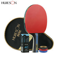 Huieson 4Star Table Tennis Paddle Bat Racket w/ Carrier Bag 3 Ping Pong Ball ACC