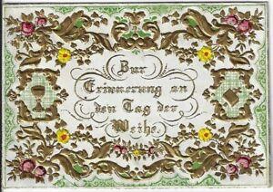 TAUFBRIEF von 1857