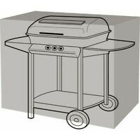 Garland Black Deluxe Large Trolley BBQ Barbecue Cover 155cm x 61cm x 97cm