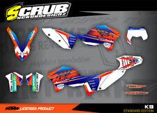 KTM graphics EXC decals kit 125 250 300 450 530 2008-2011 stickers '08-'11 SCRU