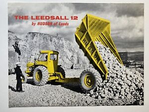 hudson of leeds leedsall 12 vintage dealers brochure 1950s earthmoving