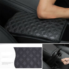 Checked Car Armrest Pad Cover Center Console Box Leather Cushion Universal 1PCS