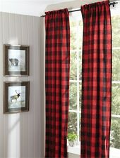 Buffalo Check Lined Drapery Panels - Pair of Two - 84' L - Free Shipping