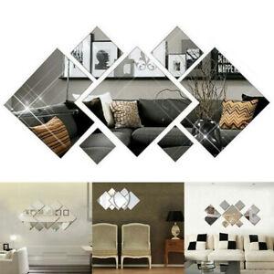 Removable 3D Mirror Diamond Wall Sticker DIY Decal Home Hotel Mural Art Decor