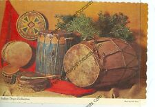 """NEW MEXICO-COLLECTION OF INDIAN DRUMS-4""""X6"""" POSTCARD-(INDIAN4X6-62)"""