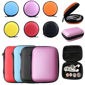 Portable Mini Earphone Holder Case Storage Carrying Hard Bag For Headphone Case