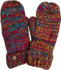 2015 NWT WOMENS BILLABONG COLD WATER KISS MITTEN GLOVES $25 O/S multicolor knit